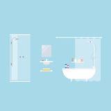 卫生间设计集合洗手间向量 图库摄影