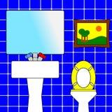 卫生间 向量例证