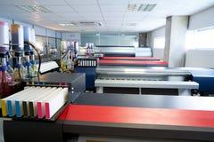 印刷业纺织品的摹写纸打印机 库存照片