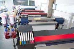 印刷业纺织品的摹写纸打印机 免版税库存图片