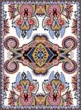 印刷品的乌克兰花卉地毯设计在帆布 免版税库存照片