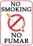 印刷品的反烟竞选图象 免版税库存照片