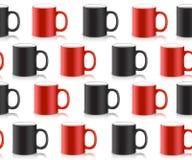 印刷品的抽象派设计在杯子 向量 库存图片