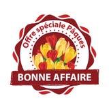 印刷品的法国特别复活节提议邮票 免版税图库摄影