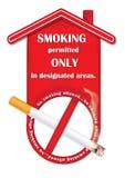 印刷品的禁烟标志 库存照片