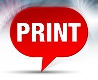 印刷品红色泡影背景 皇族释放例证