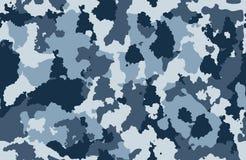 印刷品纹理无缝的伪装蓝色白色黑色 库存图片