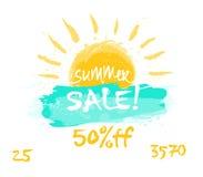 印刷品销售油漆夏天 免版税图库摄影