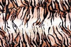 印刷品织品纹理镶边了背景的老虎皮革 免版税库存照片