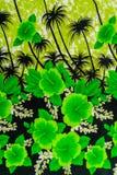 印刷品织品纹理镶边自然花 免版税库存照片