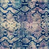 印刷品织品镶边蛇皮革纹理  免版税库存照片