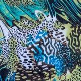 印刷品织品镶边豹子纹理  免版税库存图片