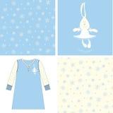 印刷品滑稽的野兔芭蕾舞女演员 免版税图库摄影