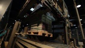 印刷品仿造了陶瓷砖,在陶瓷砖的样式 工业内部, indors 股票视频