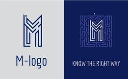 印刷品M信件迷宫 免版税库存照片