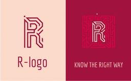 印刷品R信件迷宫 库存照片