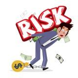 印刷商人运载的风险,经营风险 事务c 皇族释放例证