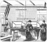 印刷工司的镀金料室 皇族释放例证