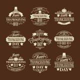 印刷感恩设计集合 向量 免版税库存图片
