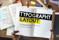 印刷术布局想法创造性设计元素概念 免版税库存图片