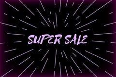 印刷术超级销售设计和旭日形首饰 免版税库存照片
