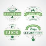 印刷术St Patricks天 也corel凹道例证向量 免版税图库摄影