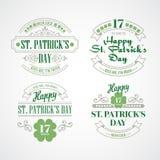 印刷术St Patricks天 也corel凹道例证向量 免版税库存照片