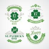 印刷术St Patricks天 也corel凹道例证向量 免版税库存图片