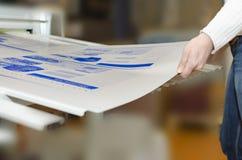 印刷设备-镀部门的计算机 图库摄影