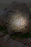 印加人印地安刻在岩石上的文字,秘鲁旅行 免版税图库摄影