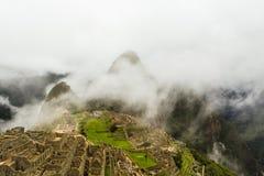 印加人古老失去的城市的顶视图 库存照片
