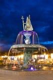 印加人喷泉在库斯科,秘鲁 库存照片