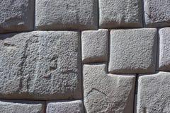 印加人墙壁背景在库斯科,秘鲁 库存照片