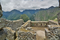 印加人大厦 Machu Picchu 秘鲁 免版税库存照片