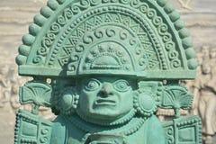 印加人战士雕象 库存图片