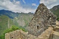 印加人房子 Machu Picchu 秘鲁 库存图片