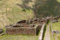 印加人秘鲁pisaq破坏神圣的谷 库存照片
