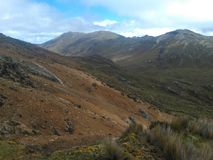 印加人足迹在厄瓜多尔 免版税图库摄影