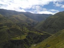 印加人足迹在厄瓜多尔 免版税库存图片