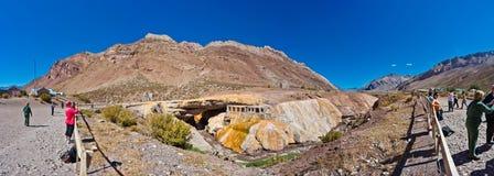 印加人` s桥梁在Mendoza,阿根廷 免版税图库摄影