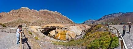印加人` s桥梁在Mendoza,阿根廷 免版税库存图片