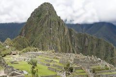 印加人machu概览秘鲁picchu废墟 库存照片
