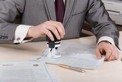 印印花税 库存图片