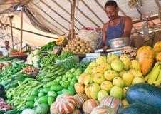 印地安义卖市场 菜待售 免版税库存照片