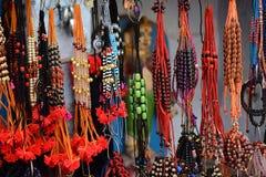 印地安五颜六色的购物街道 库存图片