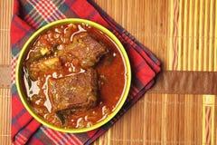 印地安人干鱼咖喱 免版税库存图片