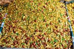 印地安人快餐油煎的混合物 免版税库存图片