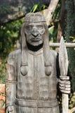 印地安人木头雕刻 免版税库存图片