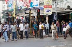 印地安人民在加尔各答,印度 免版税图库摄影