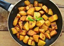 印地安人油煎的土豆 免版税库存照片